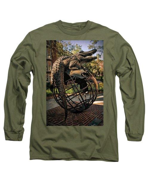 Long Sleeve T-Shirt featuring the photograph University Of Florida Sculpture by Joan Carroll