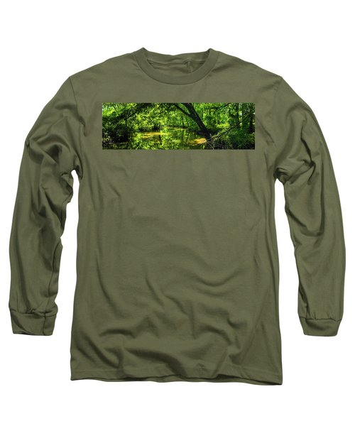Unseen Critters Of The Lost Bayou Long Sleeve T-Shirt by Kimo Fernandez