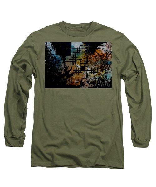 Cross Line Long Sleeve T-Shirt