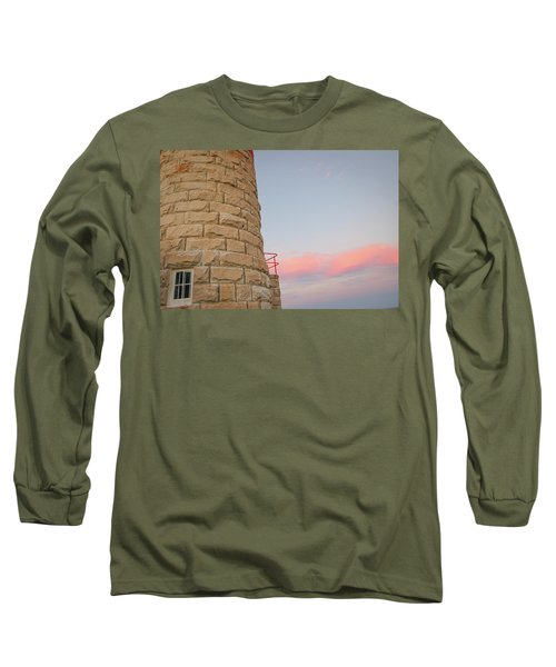 Close-up Detail Of The Cape Moreton Lighthouse Long Sleeve T-Shirt