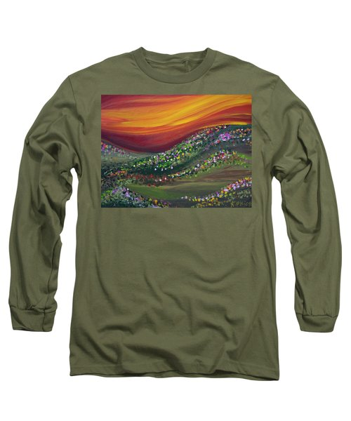 Long Sleeve T-Shirt featuring the painting Ups And Downs by Ashley Price