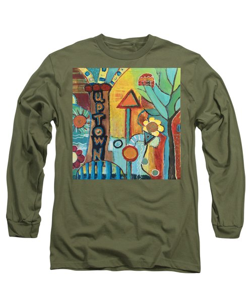 Uptown Dream World Long Sleeve T-Shirt by Susan Stone