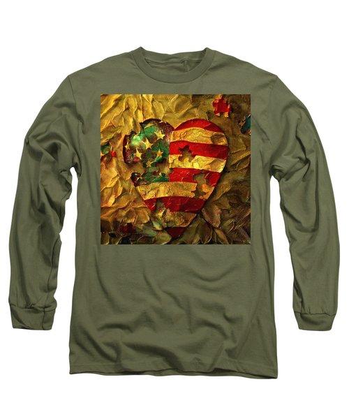 Usa Heart Long Sleeve T-Shirt