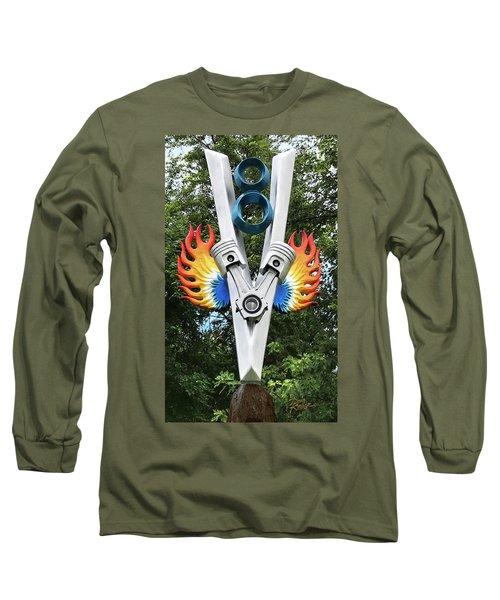 V8 Tree Carving  Long Sleeve T-Shirt