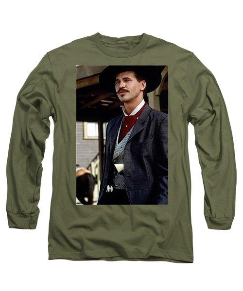 Val Kilmer As Doc Holliday Tombstone Set 1993-2015 Long Sleeve T-Shirt