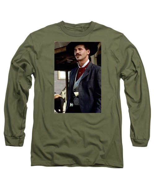 Val Kilmer As Doc Holliday Tombstone Set 1993-2015 Long Sleeve T-Shirt