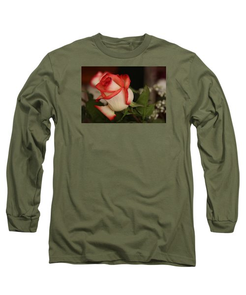 Valentine Rose Long Sleeve T-Shirt by Yvonne Wright