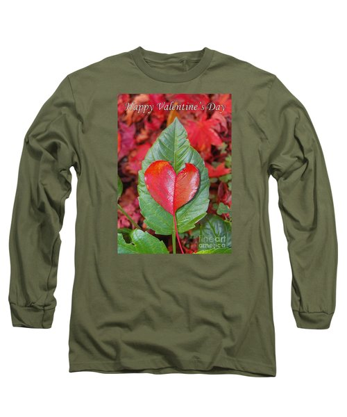 Valentine's Day Nature Card Long Sleeve T-Shirt by Debra Thompson