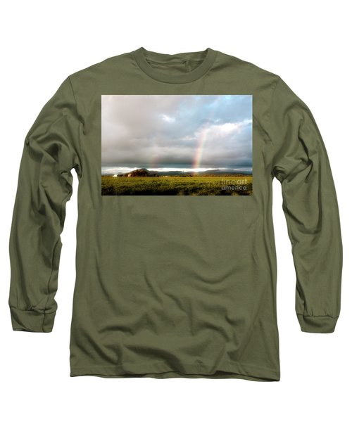 Valley Rainbows 1 Long Sleeve T-Shirt by Janie Johnson