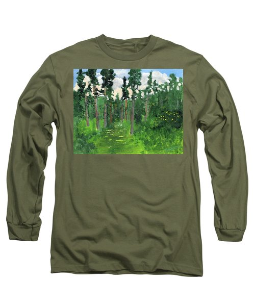 Valley Walk Long Sleeve T-Shirt by Rodger Ellingson