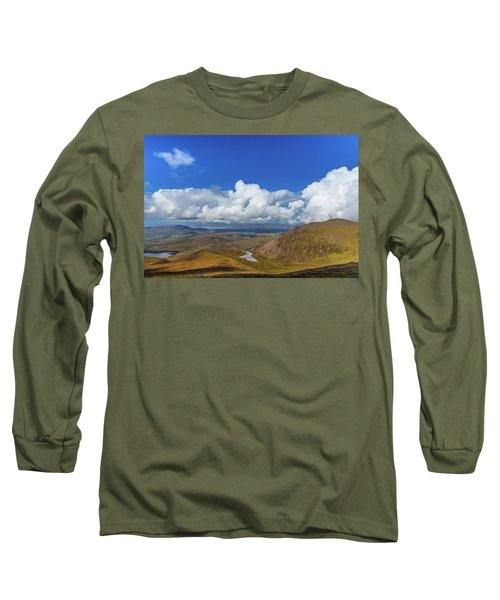 Valleys And Mountains In County Kerry On A Summer Day Long Sleeve T-Shirt by Semmick Photo