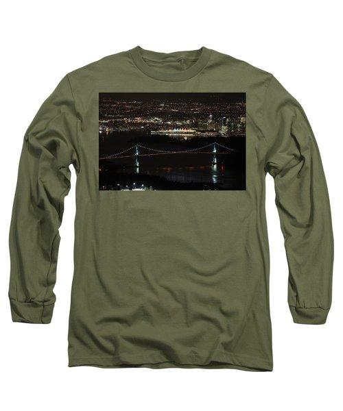 Vancouver At Night Long Sleeve T-Shirt