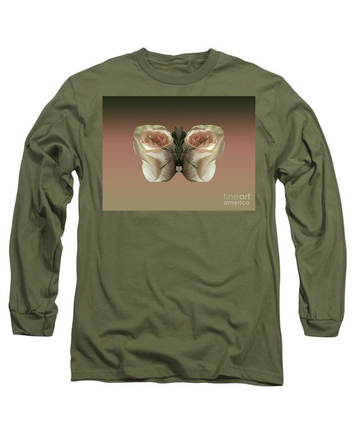 Long Sleeve T-Shirt featuring the photograph Vanilla Butterfly Rose by Rockin Docks Deluxephotos