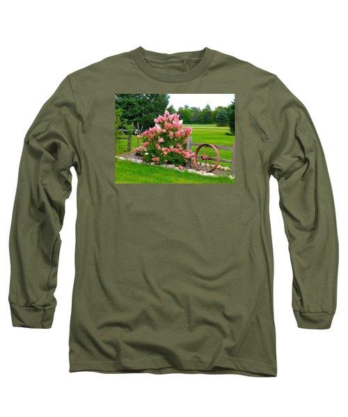 Long Sleeve T-Shirt featuring the photograph Vanilla Strawberry Hydrangea by Randy Rosenberger