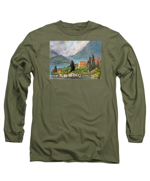 Varenna Italy Long Sleeve T-Shirt by Donna Tucker