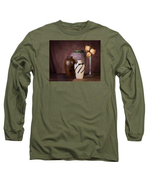Vase And Roses Still Life Long Sleeve T-Shirt