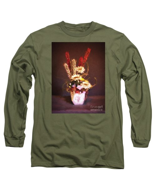 Long Sleeve T-Shirt featuring the photograph Vase With Flowers  ... by Chuck Caramella