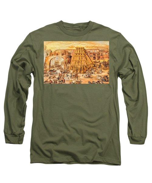 Long Sleeve T-Shirt featuring the photograph Vatican Obelisk by Nigel Fletcher-Jones