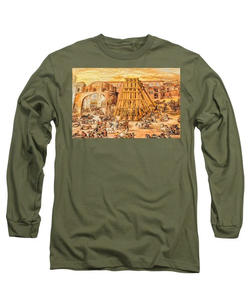 Vatican Obelisk Long Sleeve T-Shirt by Nigel Fletcher-Jones