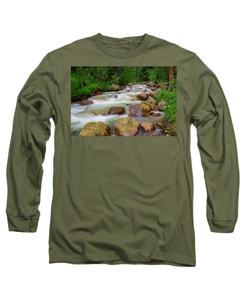 Velvet Green Forest Long Sleeve T-Shirt by Tim Reaves