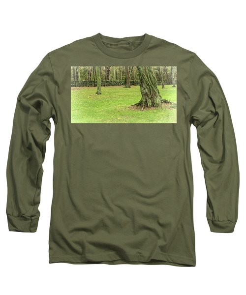 Venerable Trees And A Stone Wall Long Sleeve T-Shirt