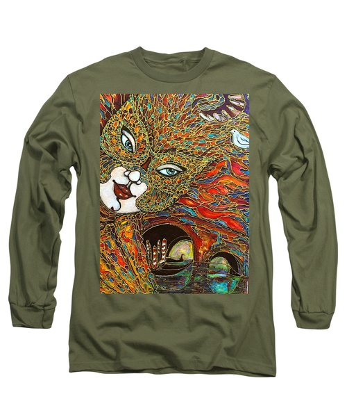 Long Sleeve T-Shirt featuring the painting Venezia by Rae Chichilnitsky