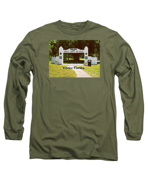 Long Sleeve T-Shirt featuring the photograph Venice Army Air Force by Gary Wonning