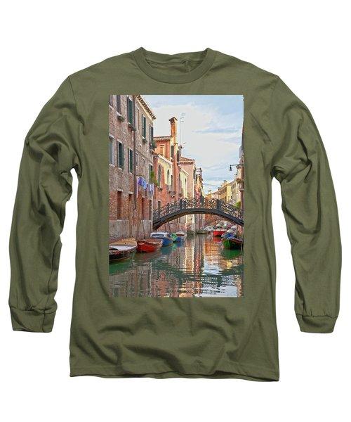 Venice Bridge Crossing 5 Long Sleeve T-Shirt