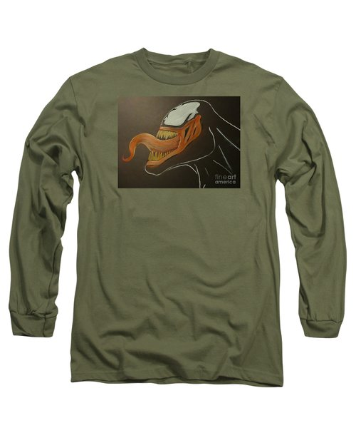 Venom Watercolor Cu Long Sleeve T-Shirt by Justin Moore