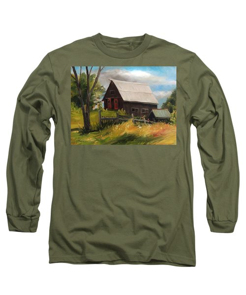 Vermont Barn Long Sleeve T-Shirt
