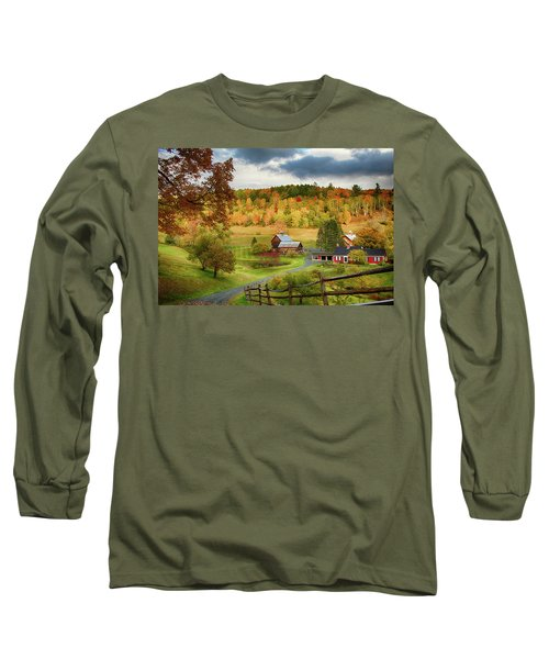 Vermont Sleepy Hollow In Fall Foliage Long Sleeve T-Shirt