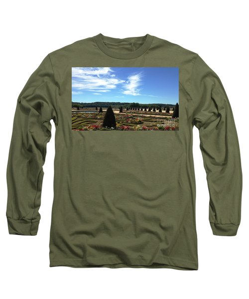 Versailles Palace Gardens Long Sleeve T-Shirt by Therese Alcorn