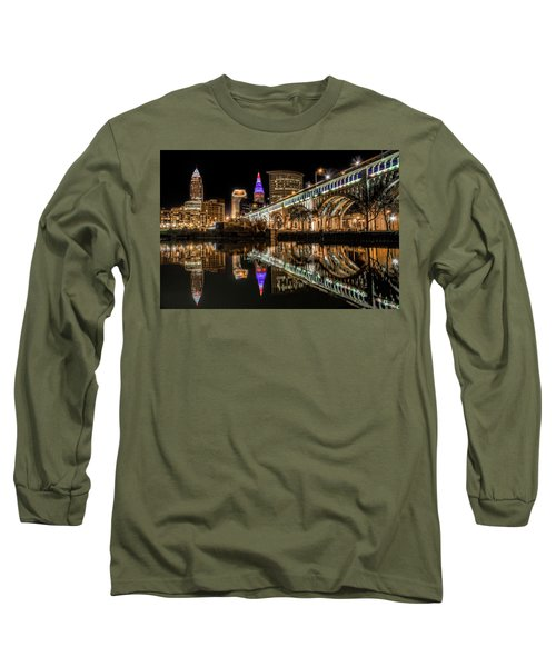 Long Sleeve T-Shirt featuring the photograph Veterans Memorial Bridge by Brent Durken