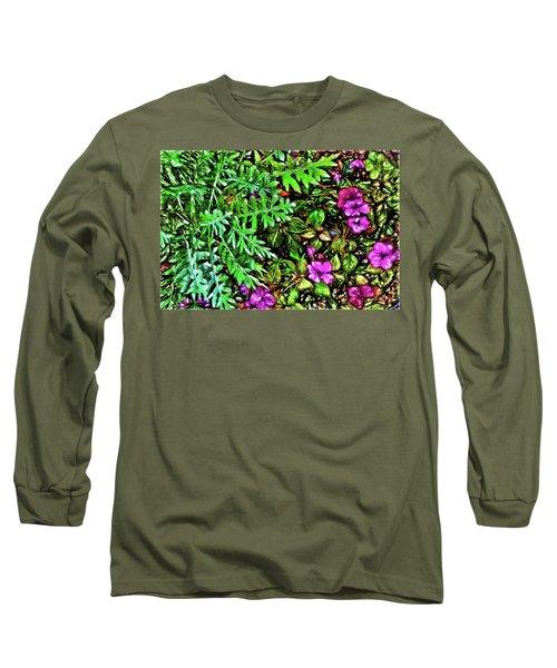 Vibrant Garden Long Sleeve T-Shirt by Terry Cork