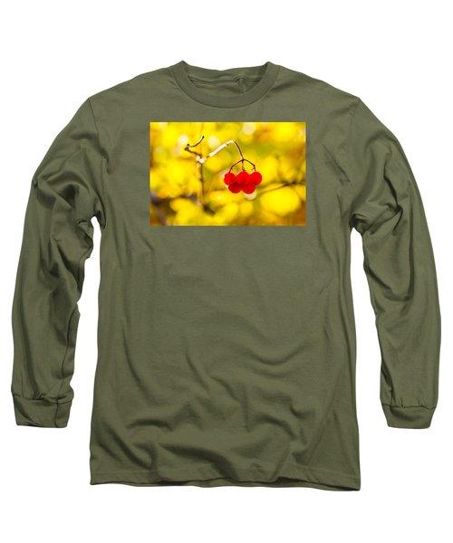 Long Sleeve T-Shirt featuring the photograph Viburnum Berries - Natural Olympic Emblem by Alexander Senin