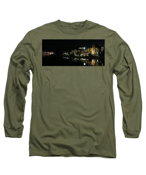 Victoria Harbor Night View Long Sleeve T-Shirt
