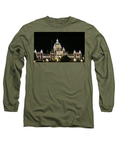 Victoria Legislative Buildings Long Sleeve T-Shirt by Betty Buller Whitehead