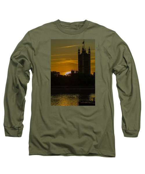 Victoria Tower In London Golden Hour Long Sleeve T-Shirt