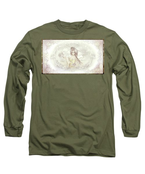 Long Sleeve T-Shirt featuring the mixed media Victorian Princess Altiana by Shawn Dall