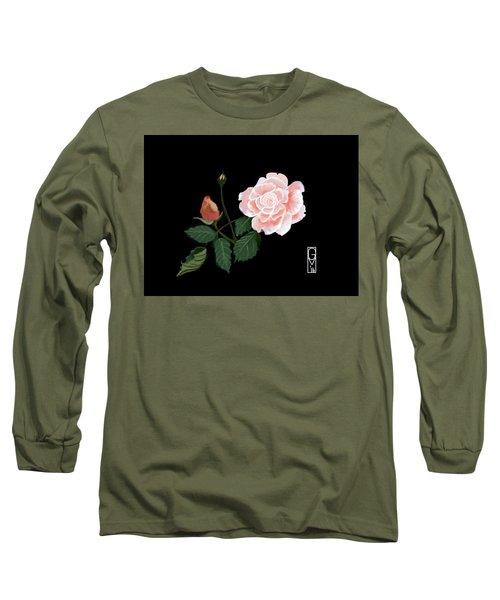 Victorian Rose Long Sleeve T-Shirt