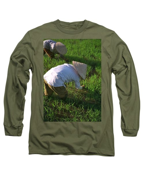 Long Sleeve T-Shirt featuring the photograph Vietnam Paddy Fields by Travel Pics