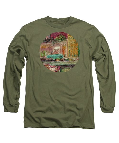 Long Sleeve T-Shirt featuring the painting View From A Balcony by Mary Wolf