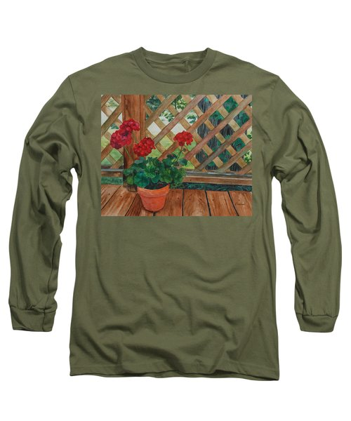 View From A Deck Long Sleeve T-Shirt by Lynne Reichhart