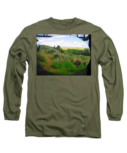 View From Cabin Window Long Sleeve T-Shirt by Lenore Senior
