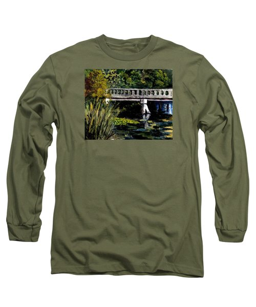 Long Sleeve T-Shirt featuring the painting View From Phillips' Park by Jim Phillips