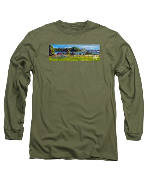 View From Sturgeon City Park Long Sleeve T-Shirt by Jim Phillips