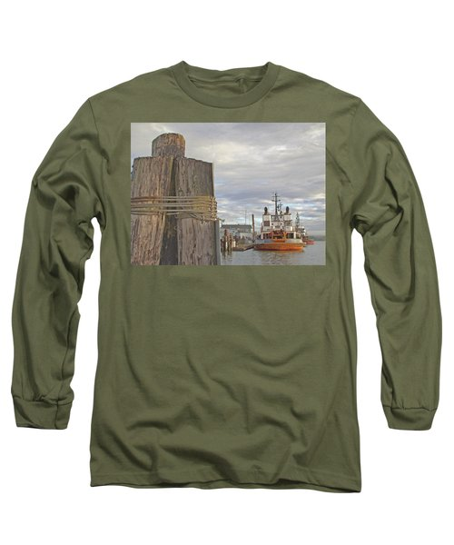 View From The Pilings Long Sleeve T-Shirt by Suzy Piatt