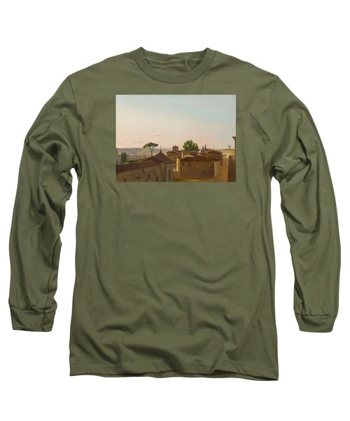 Long Sleeve T-Shirt featuring the painting View On The Quirinal Hill. Rome by Simon Denis
