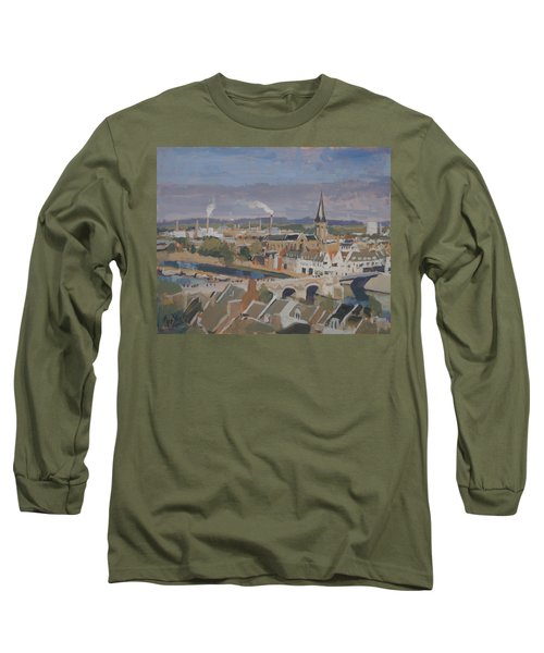 View To The East Bank Of Maastricht Long Sleeve T-Shirt by Nop Briex