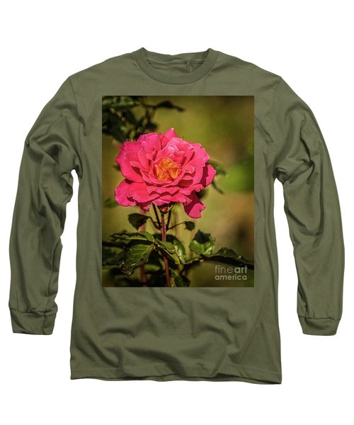 Long Sleeve T-Shirt featuring the photograph Vignetted  Rose by Robert Bales